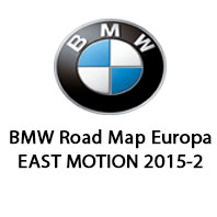 BMW Road Map Europa EAST MOTION 2015-2