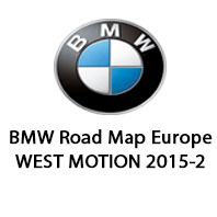 BMW Road Map Europe WEST MOTION 2015-2